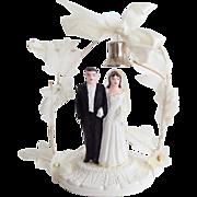 1949 Bride and Groom Wedding Cake Ornament Topper Original Box