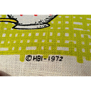 1973 Linen decorative Calendar Towel Coffee motif by HBI