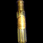 1925 Renaud Paris Orchid Perfume vial bottle yellow stripe