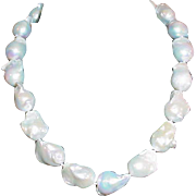 Fresh Water Baroque Pearl Necklace w/ Sterling Clasp
