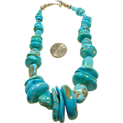 Sleeping Beauty Turquoise and Sterling Silver Necklace