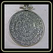 Sterling Silver Calender Pendant