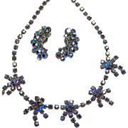 Costume Jewelry Sale**** Iridescent Rhinestone 'Star' Necklace and Matching Earrings
