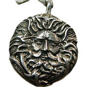'Green Man' Sterling Silver Charm/Pendant