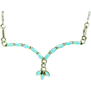 Delicate Turquoise and Sterling Silver Necklace