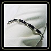 Sterling Silver with Black Onyx Link Bracelet