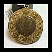 Gold Over Brass Large Round Victorian Locket