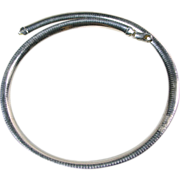 Sterling Silver 8mm Wide Omega Necklace