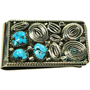 Sterling Silver and Turquoise Money Clip