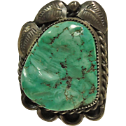 Sterling Silver Mint Green Turquoise Ring