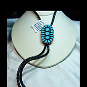 Sterling Silver Bolo with Turquoise Clusters