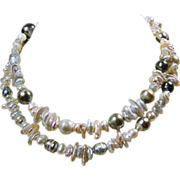 SALE 30 Inch Necklace with Assortment of Freshwater Pearls