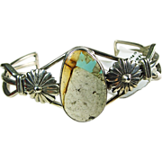 Boulder Turquoise and Sterling Silver Cuff Bracelet