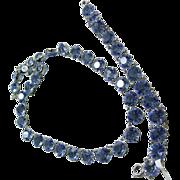 1950s Blue Crystal  Necklace and Bracelet