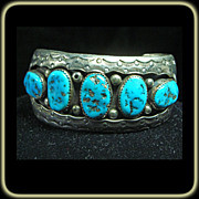 Turquoise and Sterling Silver Cuff Bracelet