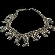 SALE Sterling Silver Squash Blossom Necklace