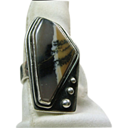 Dendritic Agate Sterling Silver Ring