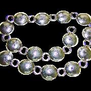 SALE Sterling Silver Concho Belt