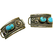 Sterling Silver and Turquoise Watch Tips