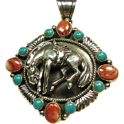 Emer Thompson Sterling Silver Pendant Featuring 3 Dimensional Figure of a Horse