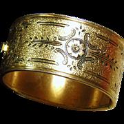 1940's Victorian Revival Bangle Bracelet