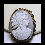 Unusual Victorian 2 Part Cameo Brooch