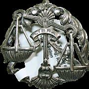 SALE Sterling Silver Libra  Broach by Sellon