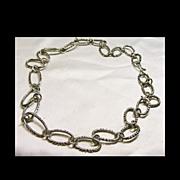 Southwestern Sterling Silver Long-Short Link Chain