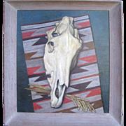 SALE Large oil on Canvas ELMER LAKATOS Western Still Life