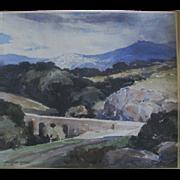 Carl Oscar Borg  (1879 - 1947)  Original Water Color