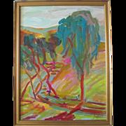 "SALE Juan Guzman Maldonado org. painting ""Temecula Mountain Tree (California)"""