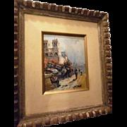 SALE Louis Peyrat oil of Paris Street