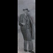 SALE Large DOUGLAS BOND, Listed Georgia, Mid Century Modern Realist, ALGER HISS Portrait