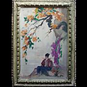 SALE Emilio Lanzi  (1884 - 1965) Oil on Canvas Listed CA artist