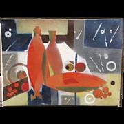 Edith Joachim, Listed California, Mid-Century Modernist, Exhibited Abstract
