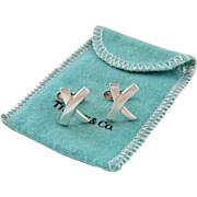 Tiffany & Co Paloma Picasso Kiss X Sterling Silver Cufflinks