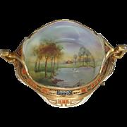 Nippon Moriage Porcelain Scenic Bowl