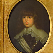 SOLD 19th Century Oil Portrait Young Prince Waldemar Christian of Denmark after Justus Susterm