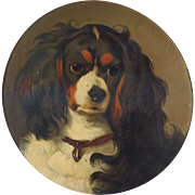 SOLD King Charles Spaniel Dog Portrait
