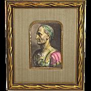 SALE Julius Caesar Hand Colored Print Ornate Frame
