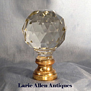 SOLD French Crystal Newell Post Boule d' Escalier