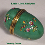 SOLD English Enamel Nutmeg Grater Pocket Size