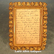 Antique Miniature Picture Frame Gilt Brass