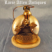 SOLD On Hold  Antique French Mother of Pearl Servant Desk Bell
