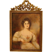 SOLD 19th Century Portrait Miniature Beautiful Aristocratic Woman