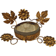 SOLD Antique French Bridal Ring Box Ormolu Beveled Glass