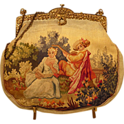 French Aubusson Tapestry Purse