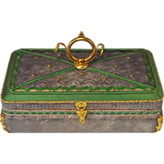 SOLD Antique French Candy Box Dragee Box