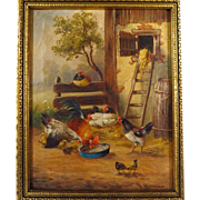 SALE 19th Century French School Farmyard Scene