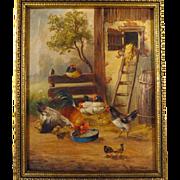 SALE 19th Century French School Farmyard Scene
